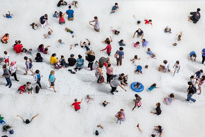 Snarkitecture Turned the National Building Museum Into a Ball Pit
