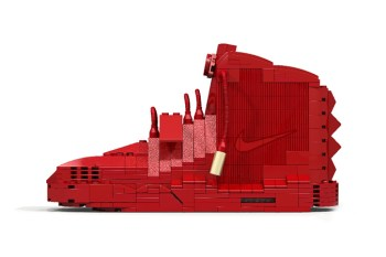 """The Nike Air Yeezy 2 """"Red October"""" Remade in LEGO"""
