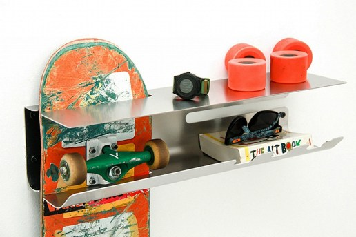 The Wall Ride Shelf Hangs Your Skateboard, Opens Bottles & More