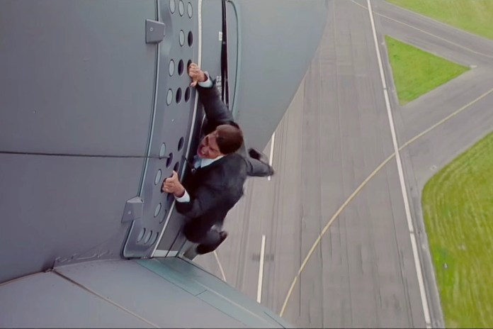 Tom Cruise Hung out of a Plane for 'Mission Impossible: Rogue Nation'