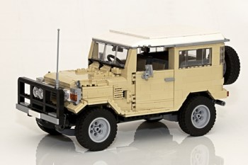 Toyota Land Cruiser 40 Series Recreated in LEGO®