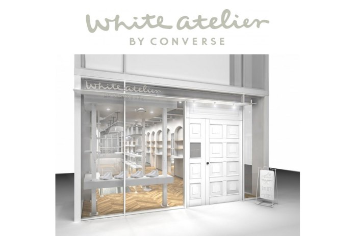 White atelier by CONVERSE Is Complete With a Customization Space
