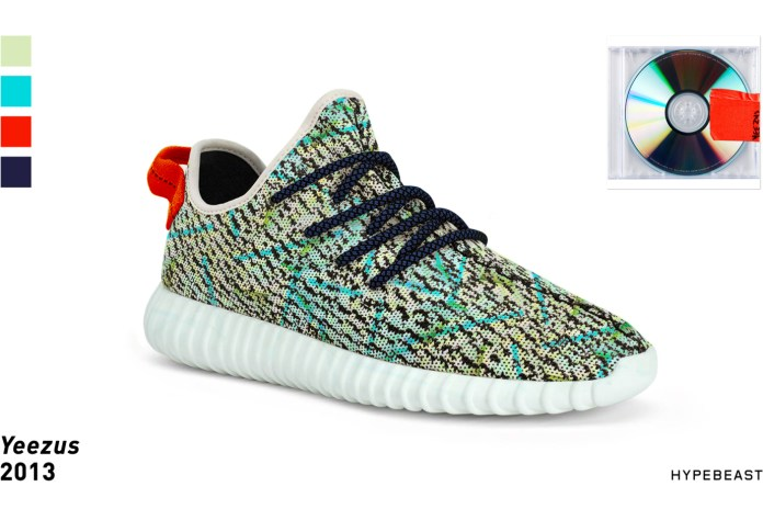 Yeezy Boost 350s Inspired by Kanye Album Cover Palettes