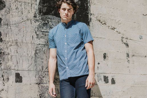3sixteen Band Collar Short-Sleeve and 3/4 Shirt