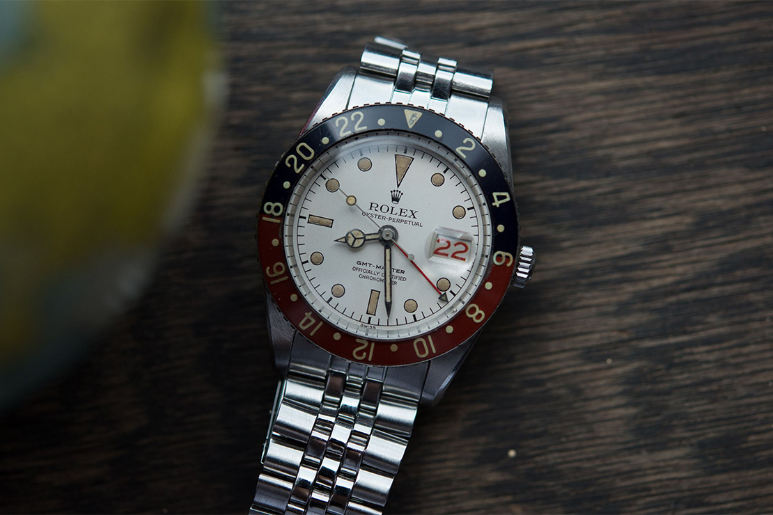 """A Look at the Legendary """"Albino"""" Rolex GMT-Master Reference 6542"""