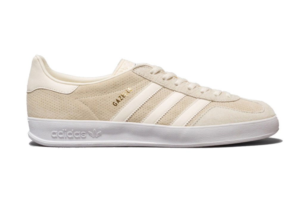 adidas originals gazelle indoor cream white hypebeast. Black Bedroom Furniture Sets. Home Design Ideas