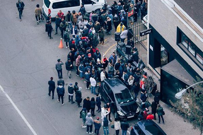 """People Have Been Queuing for the adidas Originals Yeezy Boost 350 """"Black"""" All Week"""