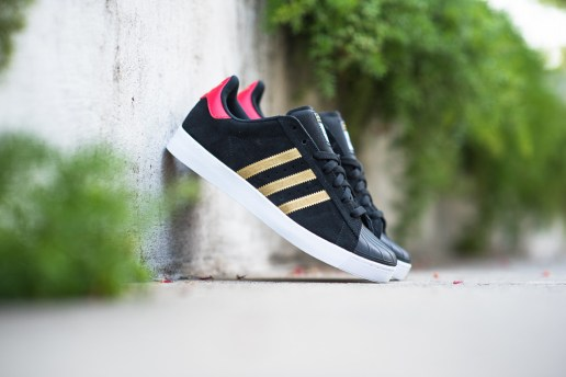 adidas Skateboarding Superstar Vulc ADV Black/Gold