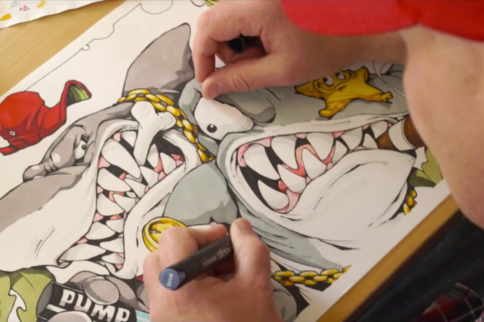 CHEO Brings to Life Imaginary Pen-Wielding Sharks for Ironlak Strikers