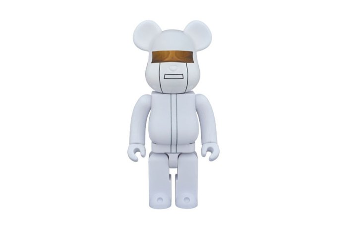 "Daft Punk x Medicom Toy Bearbrick ""White Suits Version"""