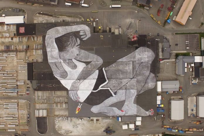 Ella & Pitr Complete the World's Largest Mural in Norway