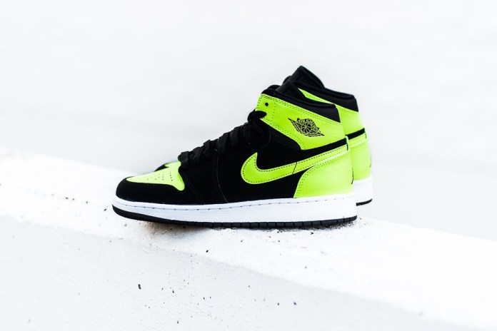 "#hypebeastkids Air Jordan 1 Retro High GG ""Black/Ghost Green"""