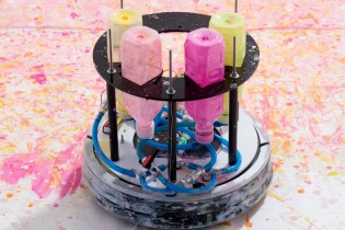 Japanese Artist HYdeJII Transformed a Roomba Into an Art-Making Machine