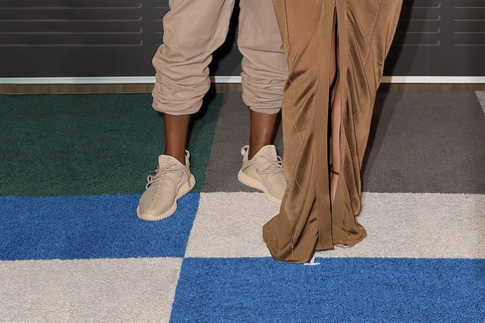 """Kanye West Hits the VMA Red Carpet in adidas Originals Yeezy Boost 350 """"Beige"""""""