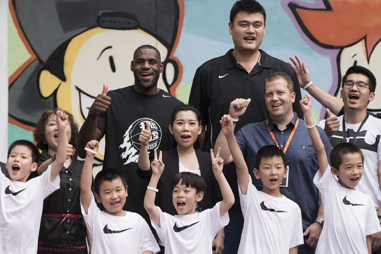 "LeBron James and Yao Ming Wrap Up Nike's ""RISE 2.0"" Tour"
