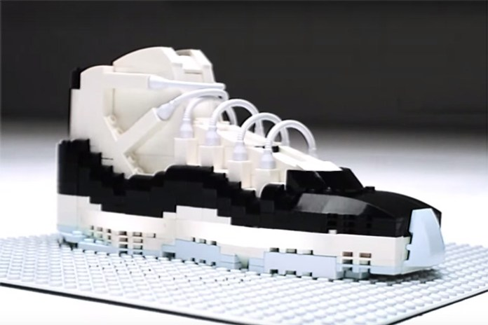 "LEGO Air Jordan 11 ""Concord"" Stop Motion Video"