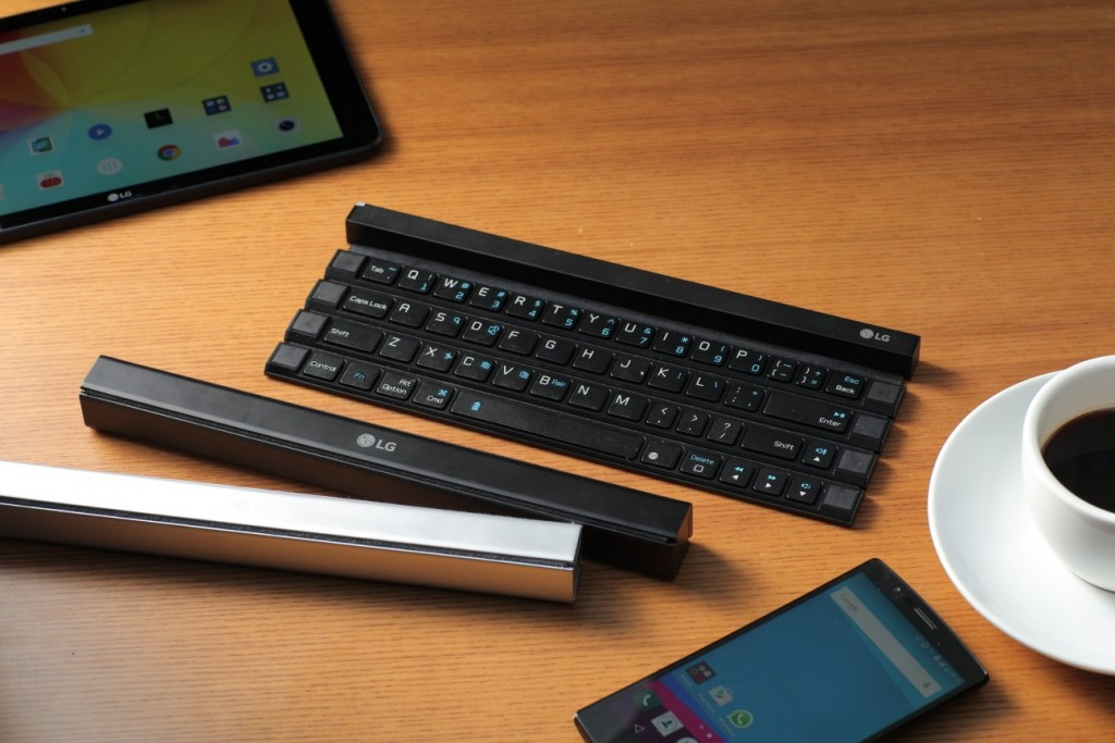 LG Unveils the World's First Solid Rollable Wireless Keyboard