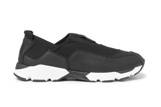 Marni Rubberized-Leather Neoprene Sneaker