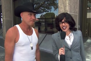 "Miley Cyrus Goes Undercover For ""I Witness News"" With Jimmy Kimmel Live!"