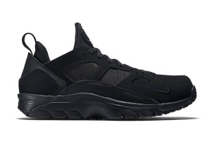 "Nike Air Trainer Huarache Low ""Triple Black"""