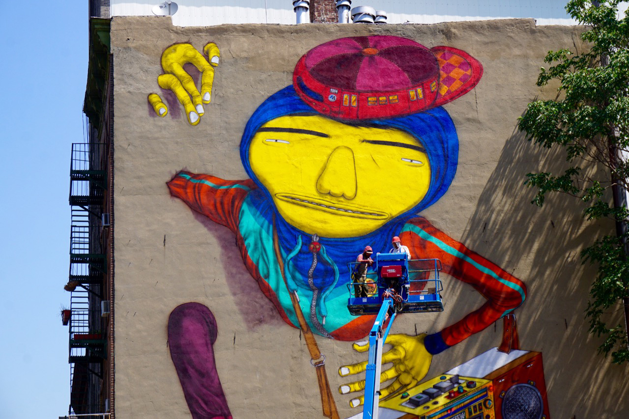 Os Gemeos Creates a New York Mural Tribute to Hip-Hop