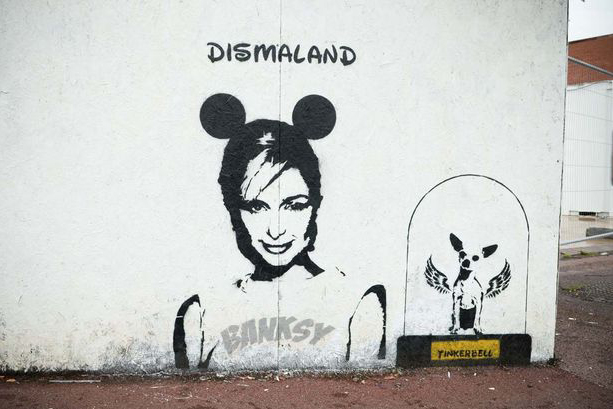 Paris Hilton Promotes Dismaland in This Newest Mural by Banksy