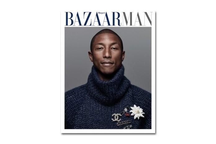 Pharrell Covers the 2015 September Issue of 'Harper's Bazaar Man Korea'