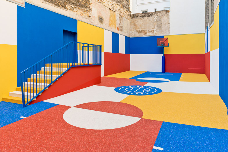 Pigalle Creates A Colorful Basketball Court Between Paris