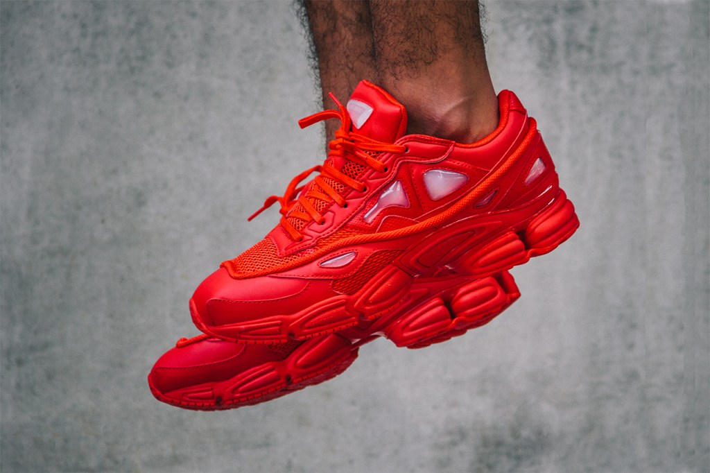 "Raf Simons x adidas Consortium Ozweego 2 ""Red"" Sneaker ..."