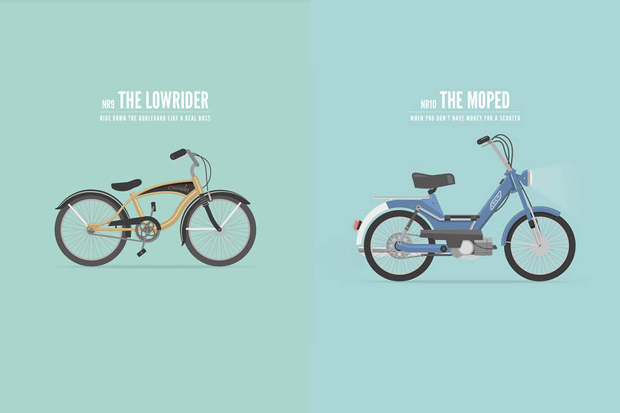 Artist Compares Each Stage of Life on Wheels