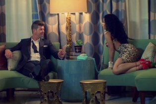 "Robin Thicke Featuring Nicki Minaj ""Back Together"" Music Video"