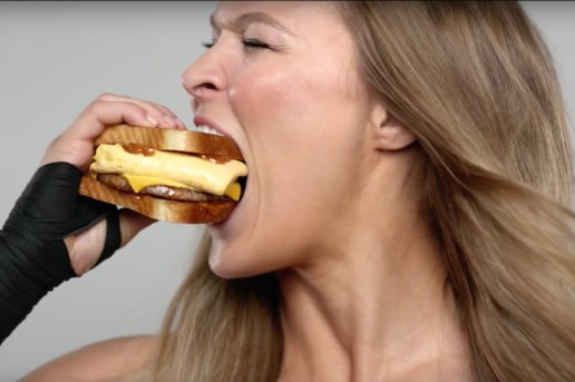 Ronda Rousey's Cinnamon Swirl French Toast Commercial for Carl's Jr.