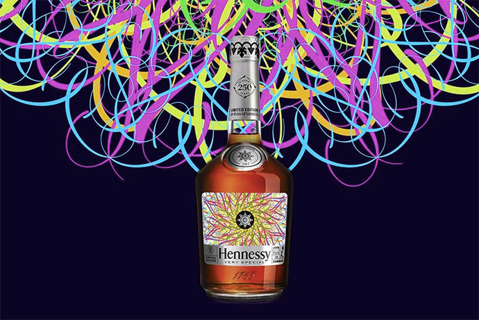Ryan McGinness x Hennessy V.S Limited Edition Bottle Design