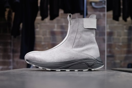 Song for the Mute x KKtP 2015 Fall/Winter Grey Matte Leather Boots SSENSE Exclusive