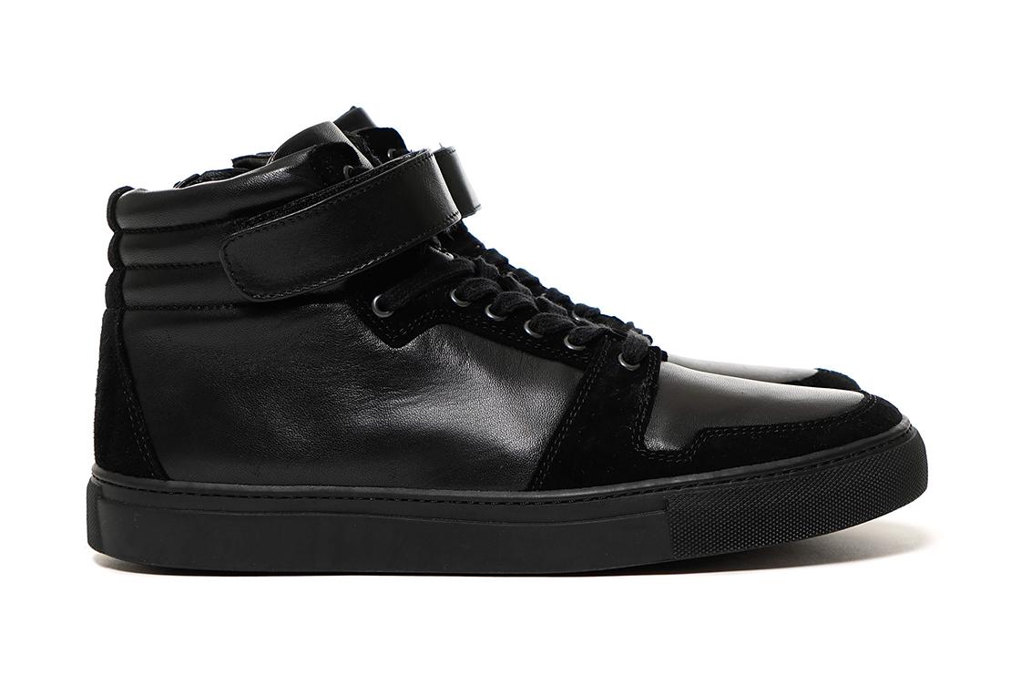 SOPHNET. 2015 Fall/Winter Velcro Strap High-Top Zip-Up Leather Sneaker