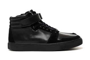 SOPHNET. 2015 Fall/Winter Velcro Strap High-Top Zip-Up Leather Sneaker