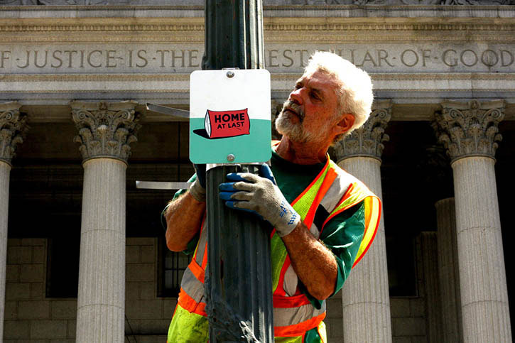 "Stephen ""ESPO"" Powers Installs Striking, Hand-Painted Signs Across New York City"