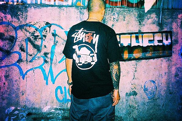"""Stussy x SHOWROOM """"Skate Man"""" T-Shirt"""