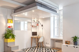 The Space-Saving BedUp That Lowers From the Ceiling