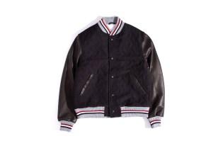 Thom Browne Whale Stamp Jacquard Varsity Jacket