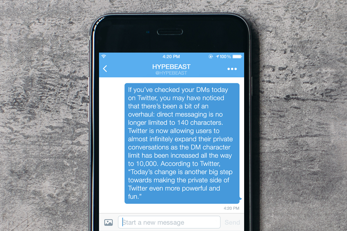Twitter Removes the 140-Character Limit From Direct Messages