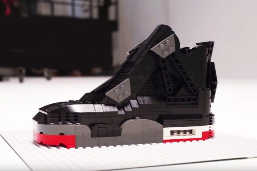 """Watch This LEGO Air Jordan IV """"Bred"""" Build Itself From Scratch"""