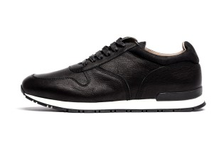 "wings+horns Leather Trainer ""Black"" & ""Grey"""