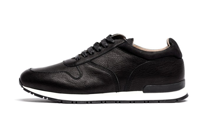 """wings+horns Leather Trainer """"Black"""" & """"Grey"""""""