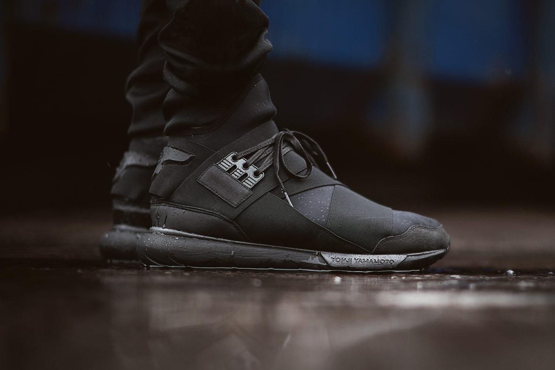y 3 qasa high top sneaker all black hypebeast
