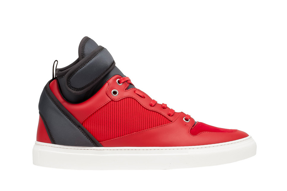 Balenciaga Multimaterial Neoprene High Sneaker