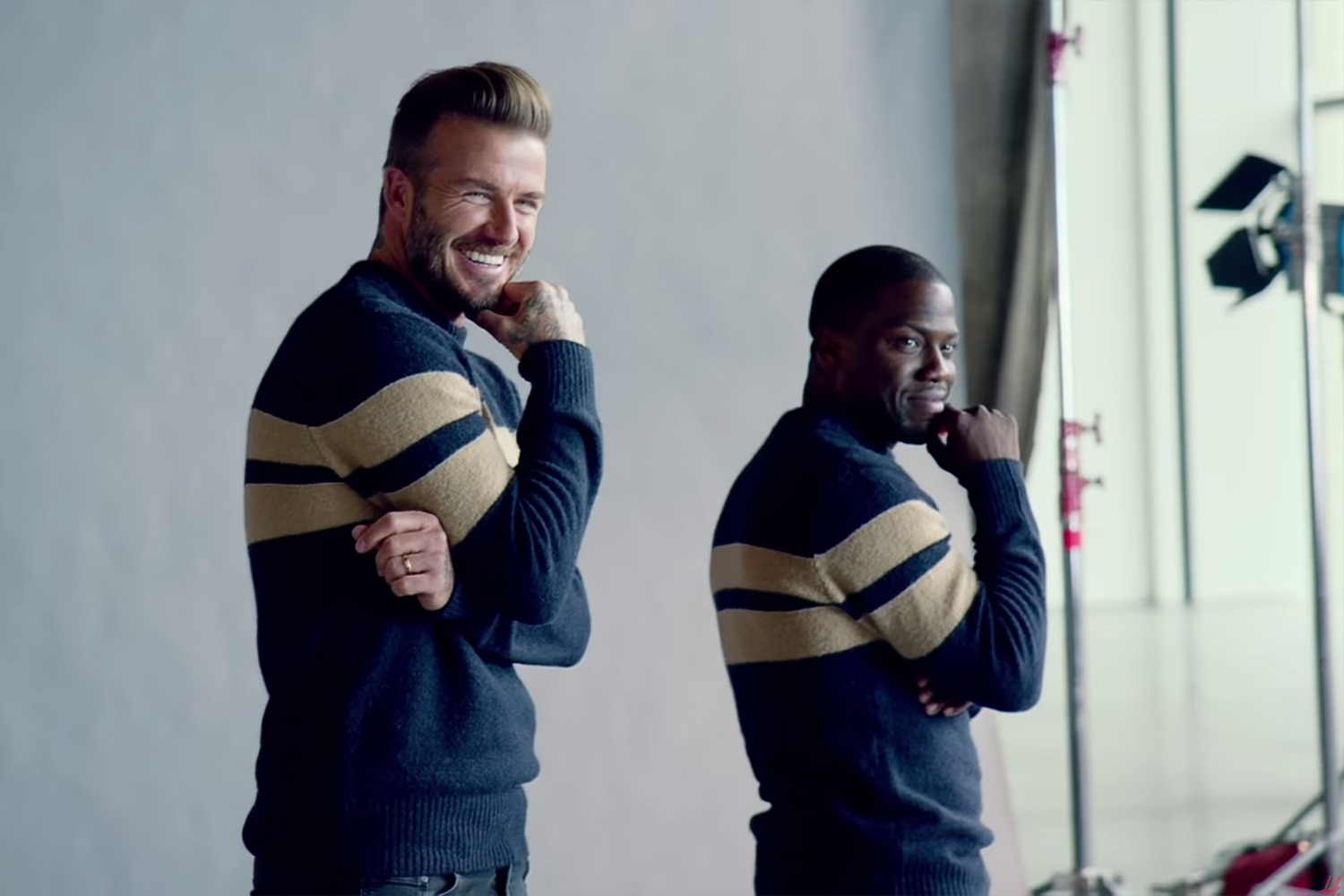 Behind the Scenes with David Beckham & Kevin Hart for H&M