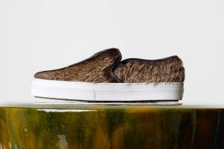 "Céline ""Natural Hairy Goatskin"" Skate Slip-On"