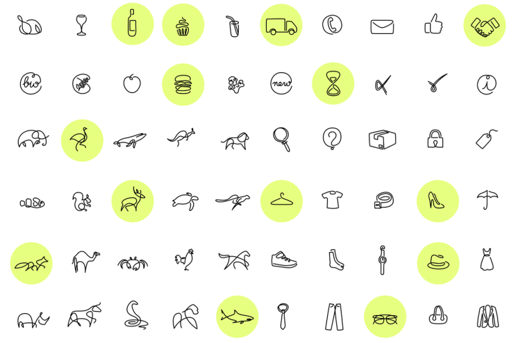 Studio Differantly Creates Icons Drawn With One Continuous Line