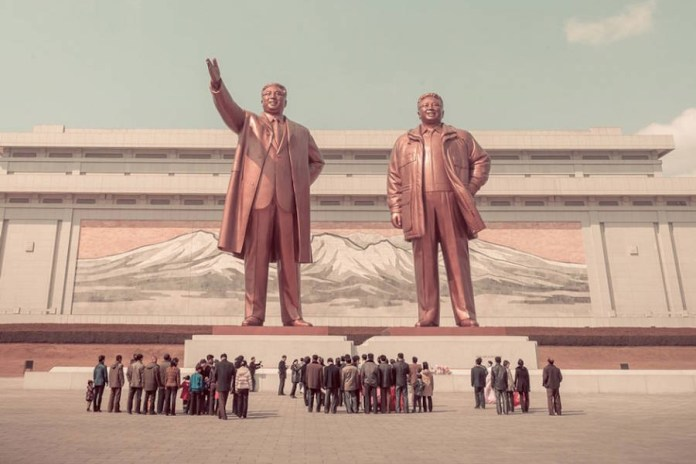 Photographer Hélène Veilleux Shoots Dystopian North Korea Through a Rose-Tinted Lens